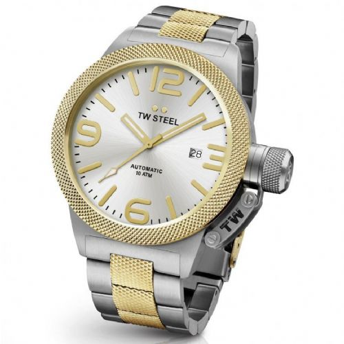 TW STEEL Canteen 50mm Automatic Two-tone Gold Gents Watch CB36